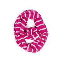 Infinity Breast Feeding Scarf & Cover Pink Peony Stripe