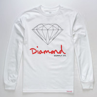 DIAMOND SUPPLY CO. OG Sign White Mens T-Shirt