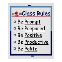Classroom Rules: 5 P's