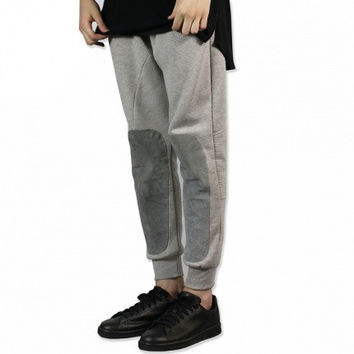 UNKNOWN Gray Suede Joggers