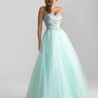 Water Beaded Tulle Sweetheart Prom Gown - Unique Vintage - Cocktail, Pinup, Holiday & Prom Dresses.