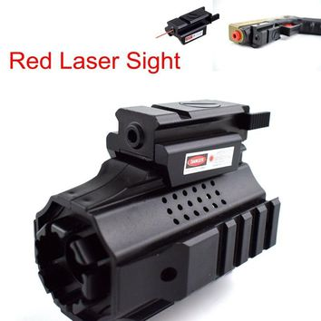 Tactical Red Dot Laser Sight Scope Airsoft Air Gun Pistol Laser Sight Glock 17 19 Colt 1911 Hunting Shooting Gun Laser For 20mm