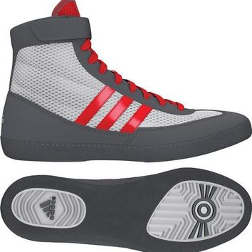 ADIDAS COMBAT SPEED 4 WRESTLING SHOES - RED/GREY