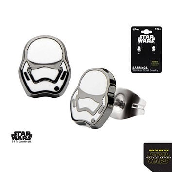 Women's Stainless Steel Star Wars Disney Episode 7 Villain Stormtrooper Stud Earrings