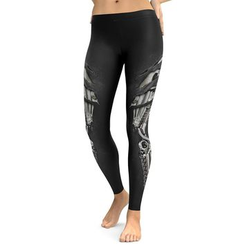 New Style Armor 3D Printing Leggings High Waist