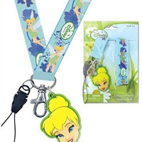 DISNEY FAIRIES (Disney Fairies) TINKERBELL (Tinker Bell) LANYARDS WITH SOFT TOUCH DANGLES (name tag neck string) [parallel import goods] (japan import)