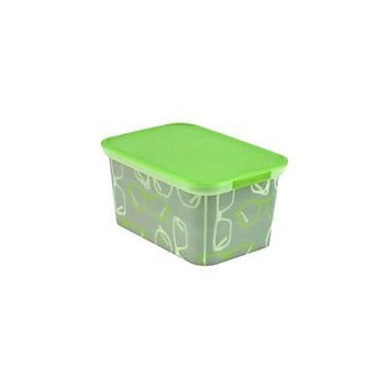 Unbranded Kids Storage Bin, Set Of 3, Green Glasses