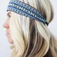 Pastel Wide Style Summer Tribal Headband