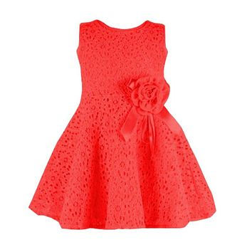 2017 New Arrival Summer Toddler Baby Girl Kids Lace Floral Dress One Piece Party Vestido Girls Princess Dresses