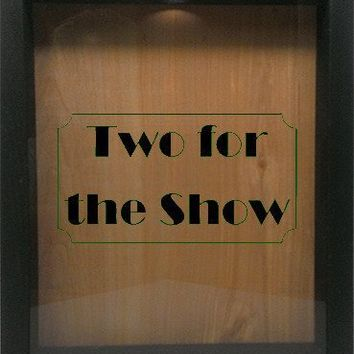 "Wooden Shadow Box Wine Cork/Bottle Cap Holder 9""x11"" - Two For The Show"