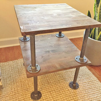 Table, Side Table, End Table, Night Stand, Bedside Table, Accent Table, Handmade Table, Industrial Table, Wooden Table, Nightstand