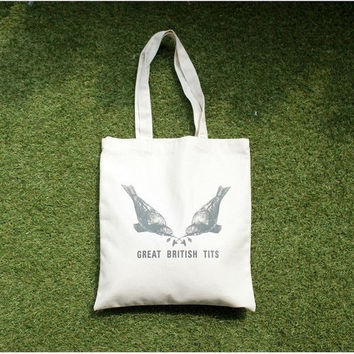 Korean Canvas Environmental Bags Tote Bag [8269845639]
