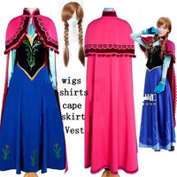OISK 2015 Movie fantasia infantil princess cosplay anime halloween christmas Character party adlut size women dresses wigs = 1958122756