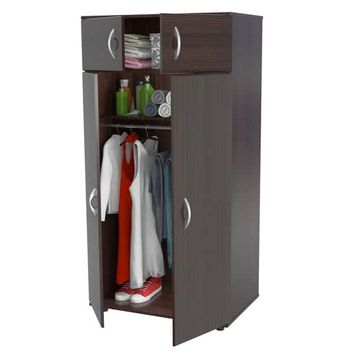 Inval Espresso-wenge Armoire | Overstock.com Shopping - The Best Deals on Armoires
