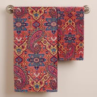 Phoebe Paisley Hand Towel - World Market