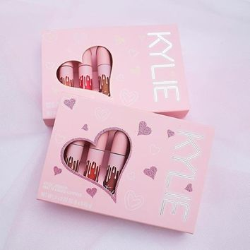 New Kelie Love Cosmetics MATTE VELVET 6pcs/set Pink Lip Gloss [11529800652]
