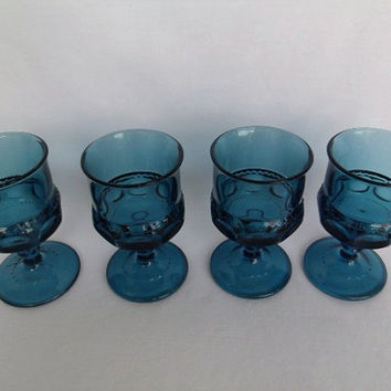 Tiara Water Goblet Crown Imperial Blue Sherry Glasses