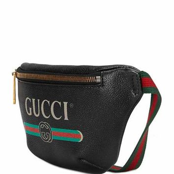 Gucci Gucci-Print Small Leather Belt Bag