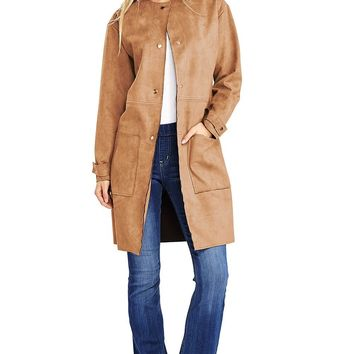 London Faux Suede Coat
