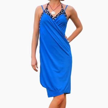 Blue Swimsuit Wrap Cover