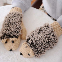 Super Cute Warm Hedgehog Gloves