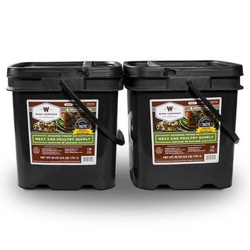 Freeze Dried Meat & Rice Bucket - 120 Servings of Wise Emergency Survival Food