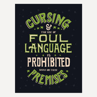 """AH Off Topic Foul Language Poster (18"""" x 24"""")"""