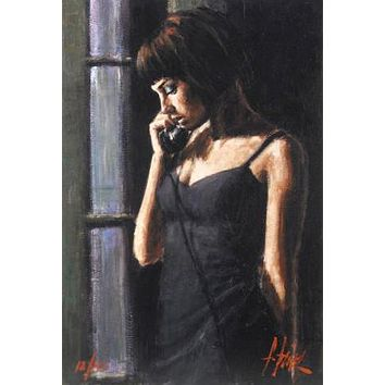 The Phone CalI - Limited Edition Artist Proof Giclee on Board by Fabian Perez