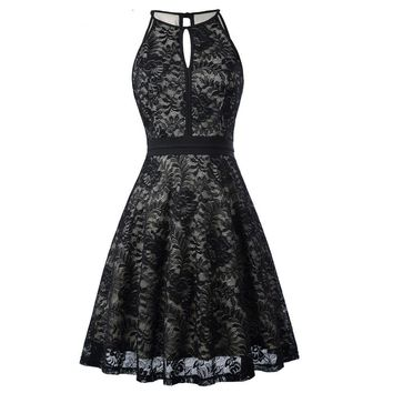 Short Evening Dress Sleeveless Vintage Black Formal Gowns Lace Mother of the Bride Dresses