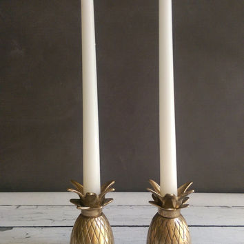 Brass Pineapple Candle Holders/ Brass Pineapple/ Brass Candleholders/ Brass Pineapple Lamp Replacement Parts