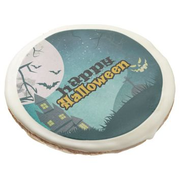 Spooky Haunted House Costume Night Sky Halloween Sugar Cookie