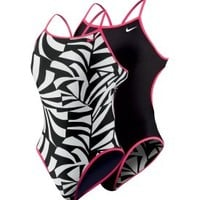 Nike Women's Graphic Leaf Reversible Cut Out Tank Swimsuit - Dick's Sporting Goods