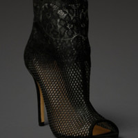 Chinese Laundry Mesh & Lace Bootie