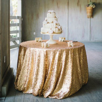 GOLD SEQUIN TABLECLOTH, Table Runners, Overlays, Select Your Size,Sequin Cake Tablecloth,Sequin Sweetheart Tablecloth