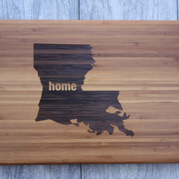 Texas Home Cutting Board - ALL states & countries are available