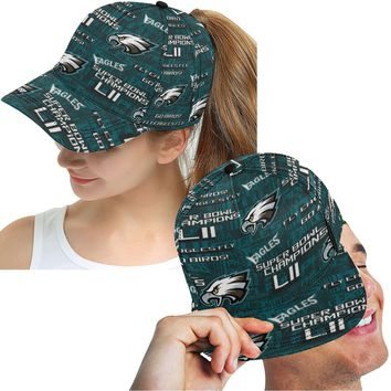 Eagles Hat Men Women Midnight Green Pattern Snapback Adjustable Hat