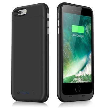 New 6800mAh  Portable  Power Bank Case Phone External Battery Pack Backup Charger Case  iPhone 6S Plus iPhone 6 Plus 5.5""