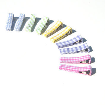Pastel Hair Clips Clippies Barrettes Baby by SmiLeaGainCreations