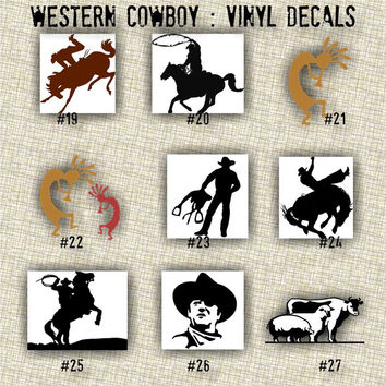 COWBOY vinyl decals | country western | country boy | car decals | car stickers | laptop sticker - 19-27