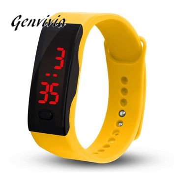 GENGVIVIA Mens Womens Rubber LED Sports Bracelet Digital Wrist Watch
