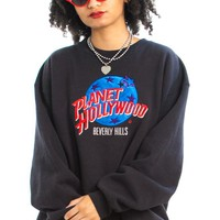 Vintage 90's Planet Hollywood Beverly Hills Sweatshirt - One Size Fits Many