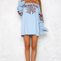 Loving Spirit Dress Denim Blue
