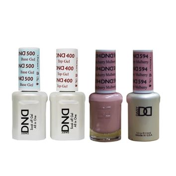 DND - Base, Top, Gel & Lacquer Combo - Mullberry - #594