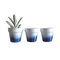 Got the Blues Planters - Set of 3