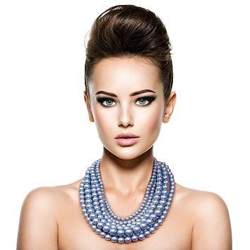 Blue Pearl Necklace Set