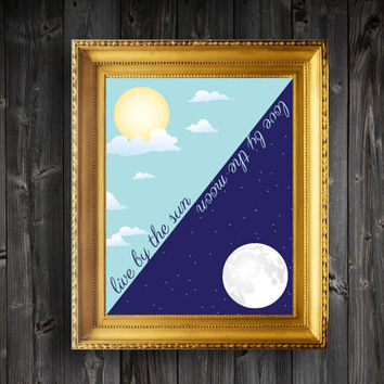 Instant Download Printable Live By The Sun Wall Decor Art