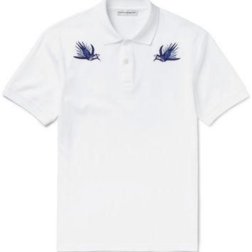Alexander McQueen - Slim-Fit Embroidered Cotton-Piqu¨¦ Polo Shirt