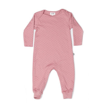Organic Pink Baby Summer Jumpsuit