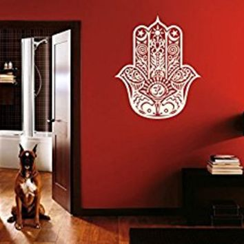 Wall Decal Vinyl Sticker Decals Art Decor Design Hamsa Hand yin yang Indian Buddha Ganesh Lotos Modern Bedroom (r140)