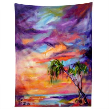 Ginette Fine Art Florida Palms Beach Tapestry